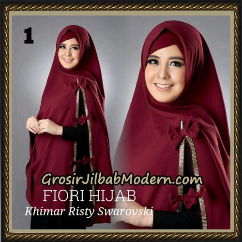 Jilbab Cantik Khimar Risty Swarovski Original by Fiori Hijab Brand No 1