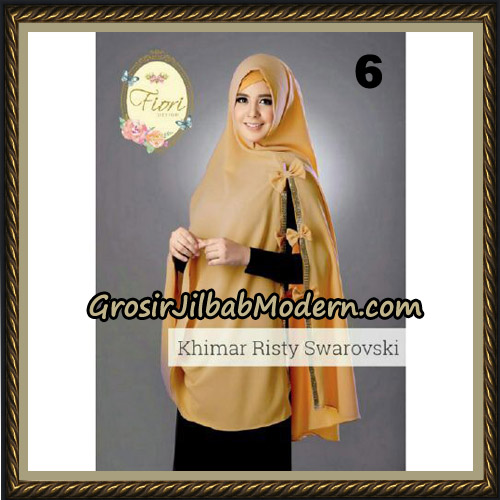 Jilbab Cantik Khimar Risty Swarovski Original by Fiori Hijab Brand No 6