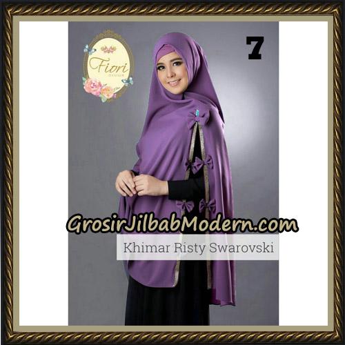 Jilbab Cantik Khimar Risty Swarovski Original by Fiori Hijab Brand No 7