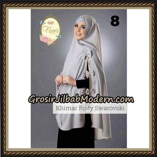 Jilbab Cantik Khimar Risty Swarovski Original by Fiori Hijab Brand No 8