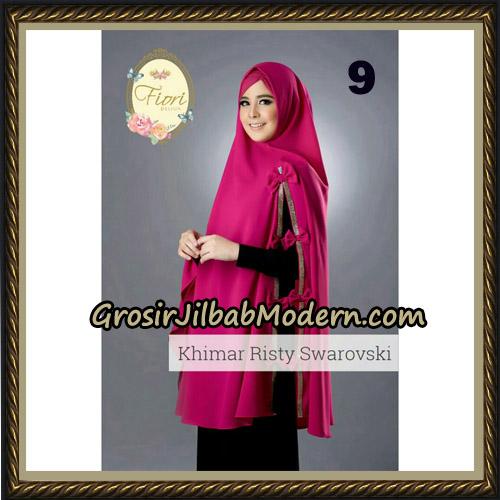 Jilbab Cantik Khimar Risty Swarovski Original by Fiori Hijab Brand No 9