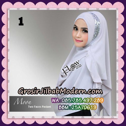 Jilbab Cantik New Instant 2 Faces Half Moon Original By Flow Idea No 1
