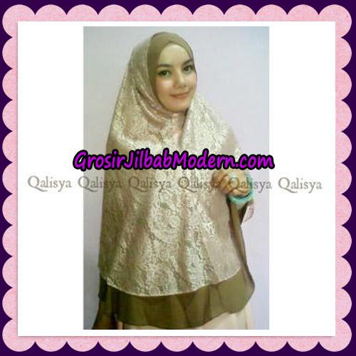 Jilbab Syari Brokat Elegan Original by Qalisya Hijab Brand On Model