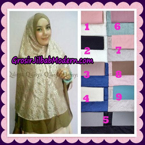 Jilbab Syari Brokat Elegan Original by Qalisya Hijab Brand