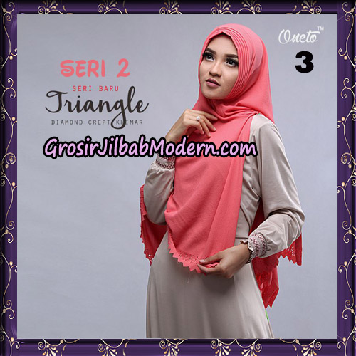 Jilbab Cantik Khimar Lipit Triangle Seri 2 Original By Oneto Hijab Brand No 3