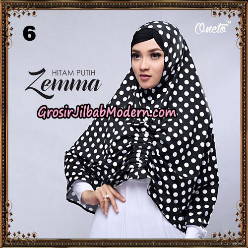 Jilbab Instant Cantik Zema Hitam Putih Support Oneto Hijab No 6