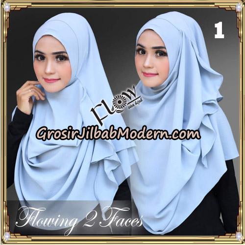 Jilbab Instant Flowing 2 Faces Bunda Widya Henidar Amroe Original By Flow Idea No 1