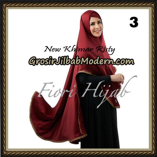 Jilbab Cantik New Khimar Risty Original by Fiori Hijab Brand No 3