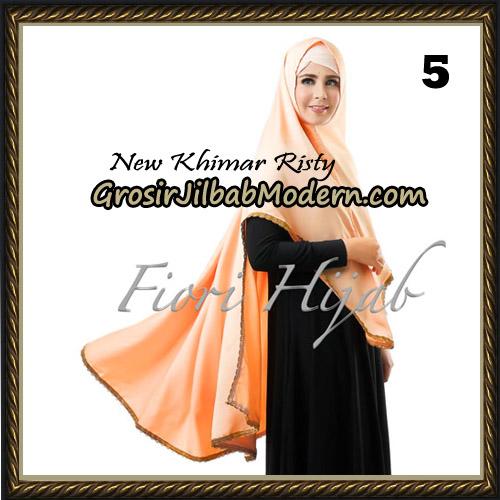 Jilbab Cantik New Khimar Risty Original by Fiori Hijab Brand No 5