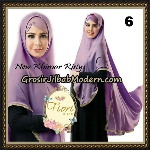 Jilbab Cantik New Khimar Risty Original by Fiori Hijab Brand No 6