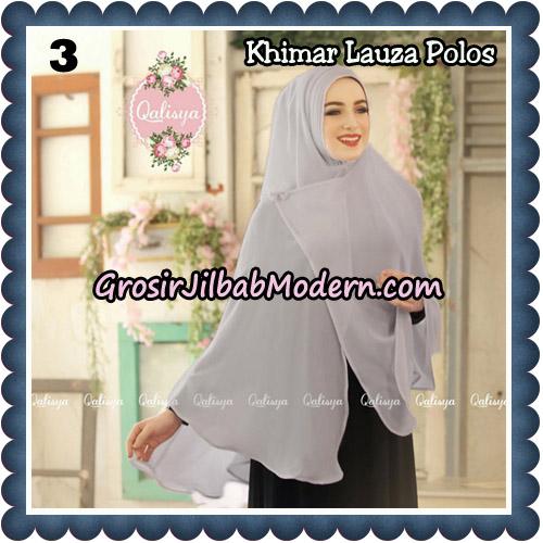 Jilbab Syari Khimar Lauza Polos Original by Qalisya Hijab Brand No 3