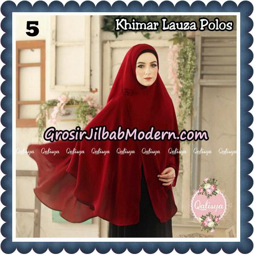 Jilbab Syari Khimar Lauza Polos Original by Qalisya Hijab Brand No 5