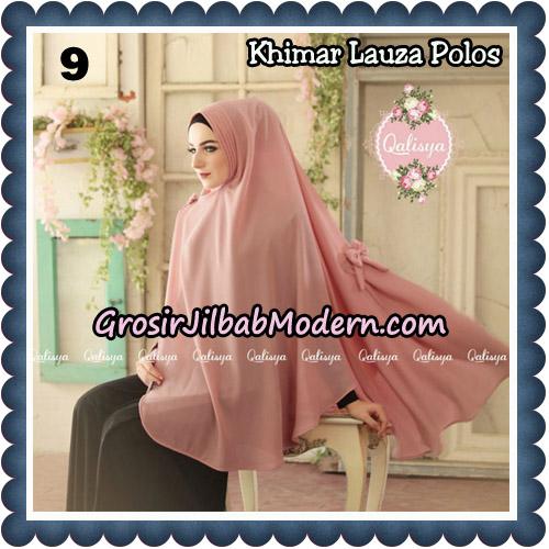 Jilbab Syari Khimar Lauza Polos Original by Qalisya Hijab Brand No 9