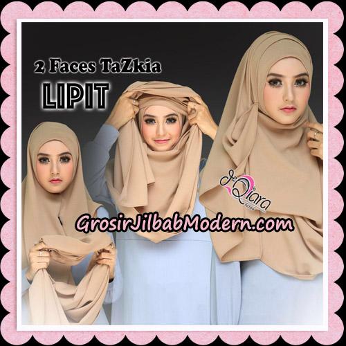 Jilbab Instan 2 Face Tazkia Lipit Original By dQiara Hijab Brand - Cara Pemakaian