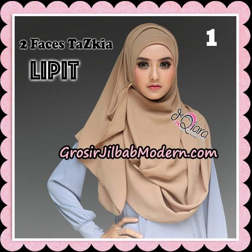 Jilbab Instan 2 Face Tazkia Lipit Original By dQiara Hijab Brand No 1