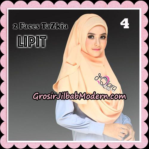 Jilbab Instan 2 Face Tazkia Lipit Original By dQiara Hijab Brand No 4