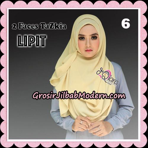 Jilbab Instan 2 Face Tazkia Lipit Original By dQiara Hijab Brand No 6