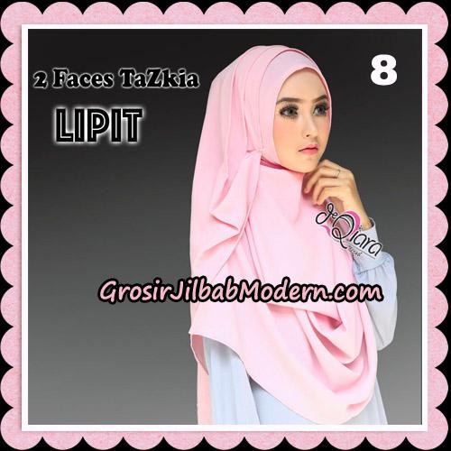 Jilbab Instan 2 Face Tazkia Lipit Original By dQiara Hijab Brand No 8