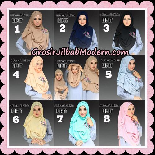 Jilbab Instan 2 Face Tazkia Lipit Original By dQiara Hijab Brand