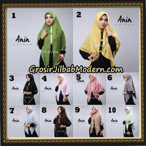 Jilbab Instant Anin Khimar Original By Sayra Hijab Brand