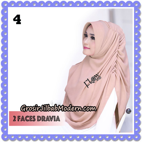 Jilbab Instant 2 Faces Dravia Poppy Bunga Original By Flow Idea Hijab No 4