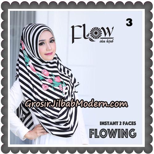 Jilbab Instant 2 Faces Flowing Stripe Original By Flow Idea No 3