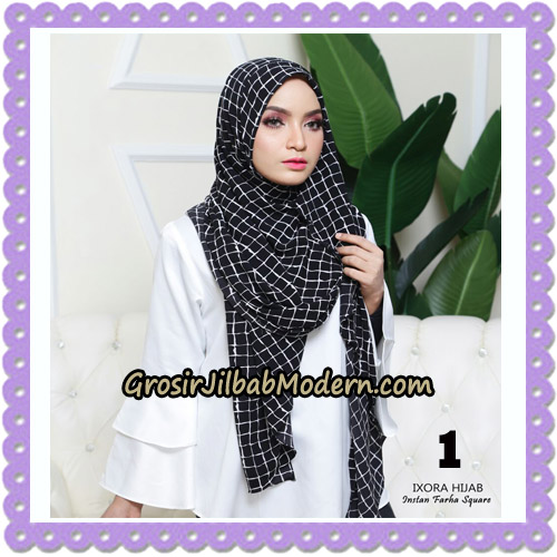 Jilbab Instant Cantik Farha Square Original by Ixora Hijab Brand No 1