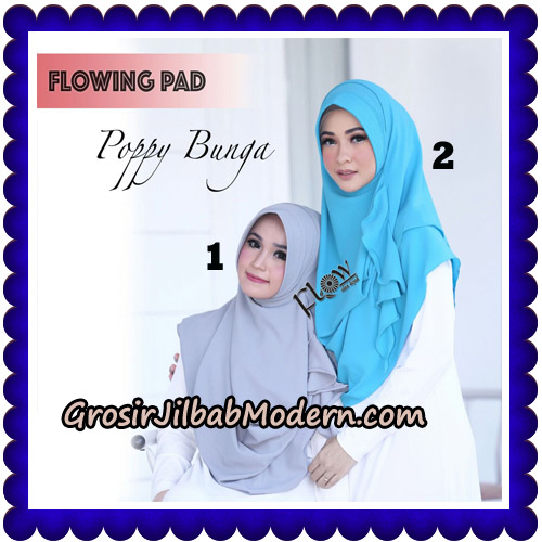 Jilbab Instant Flowing Pad Ala Poppy Bunga Original By Flow Idea No 1,2