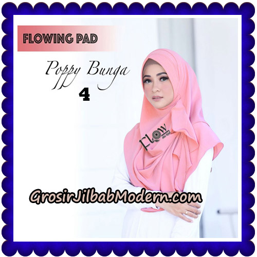 Jilbab Instant Flowing Pad Ala Poppy Bunga Original By Flow Idea No 4