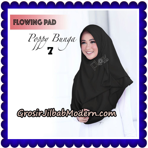 Jilbab Instant Flowing Pad Ala Poppy Bunga Original By Flow Idea No 7