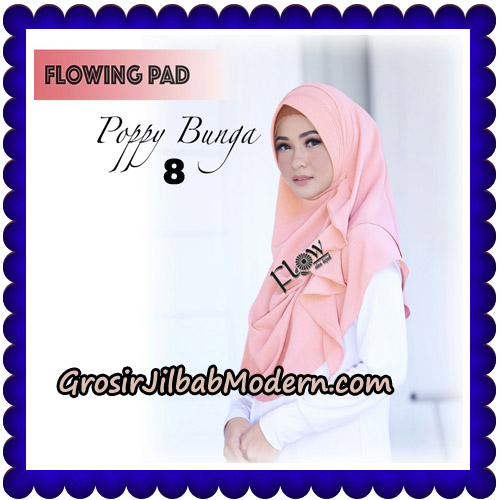 Jilbab Instant Flowing Pad Ala Poppy Bunga Original By Flow Idea No 8