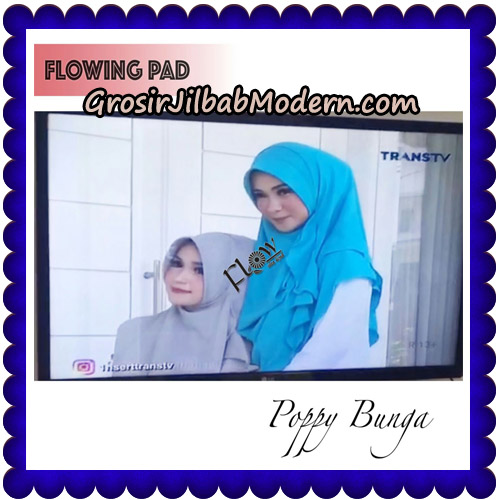 Jilbab Instant Flowing Pad Ala Poppy Bunga Original By Flow Idea-model