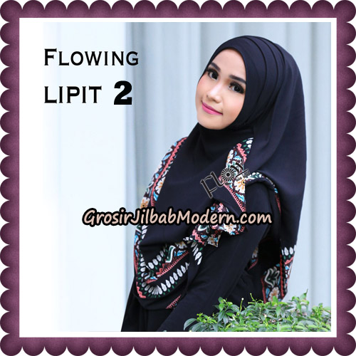 Jilbab Cantik Instant Flowing Lipit Original By Flow Idea Hijab No 2