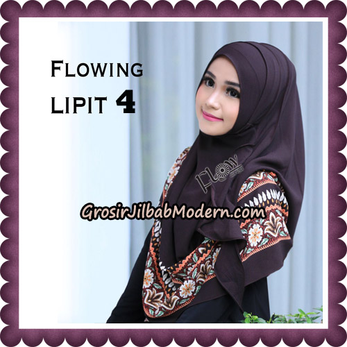 Jilbab Cantik Instant Flowing Lipit Original By Flow Idea Hijab No 4