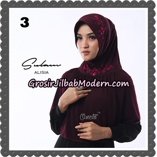 Jilbab Cantik Sulam Alisia Original By Oneto Hijab Brand No 3