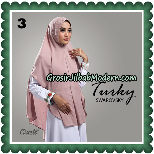 Jilbab Cantik Turky Swarovsky Original By Oneto Hijab No 3