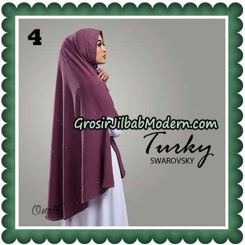 Jilbab Cantik Turky Swarovsky Original By Oneto Hijab No 4