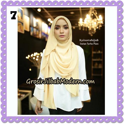 Jilbab Instant Cantik Farha Plain Original by Ixora Hijab Brand No 7