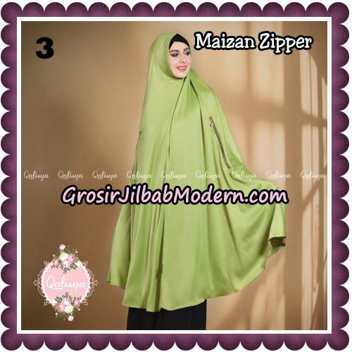 Jilbab Syari Khimar Maizan Zipper Original by Qalisya Hijab Brand No 3