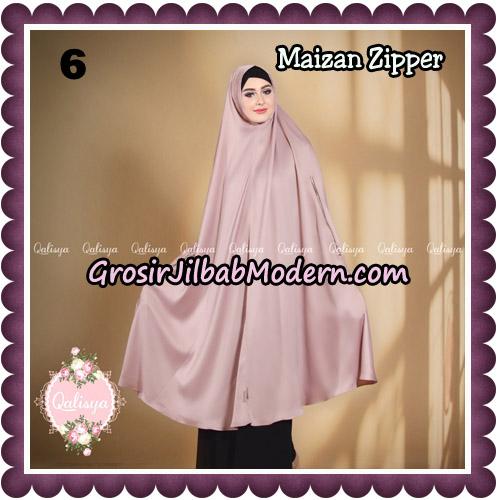 Jilbab Syari Khimar Maizan Zipper Original by Qalisya Hijab Brand No 6