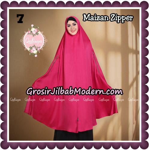 Jilbab Syari Khimar Maizan Zipper Original by Qalisya Hijab Brand No 7