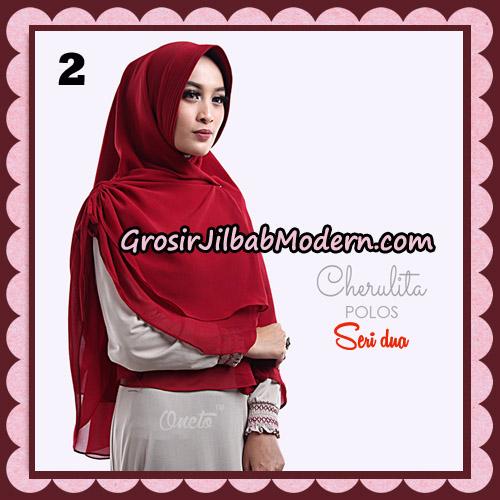 Khimar Instant Cherulita Polos Seri 2 Original By Oneto Hijab Brand No 2