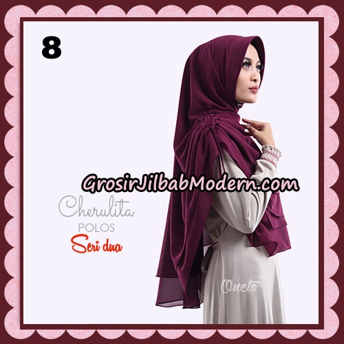 Khimar Instant Cherulita Polos Seri 2 Original By Oneto Hijab Brand No 8