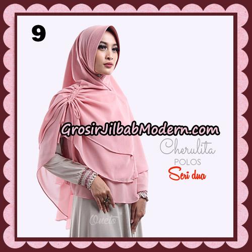 Khimar Instant Cherulita Polos Seri 2 Original By Oneto Hijab Brand No 9