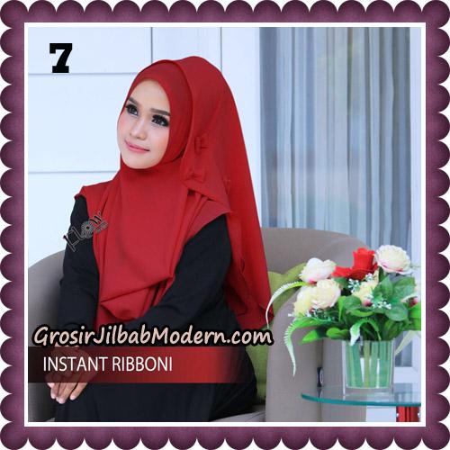 Jilbab Cantik Instant Ribboni Original By Flow Idea Hijab No 7