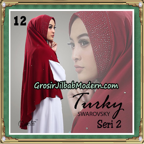 Jilbab Cantik Turky Swarovsky Seri 2 Original By Oneto Hijab No 12