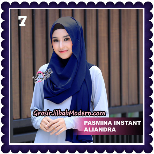 Jilbab Pashmina Instant Aliandra Original By deQiara Hijab Brand No 7