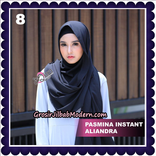 Jilbab Pashmina Instant Aliandra Original By deQiara Hijab Brand No 8