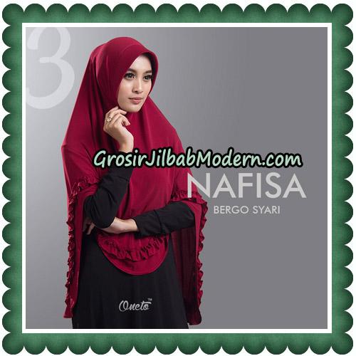Jilbab Cantik Nafisa Bergo Syari Original By Oneto Hijab NO 3