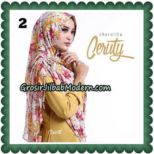 Jilbab Instant Cherulita Ceruty Motif Original By Oneto Hijab No 2